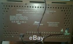 MINT Antique Vintage ZENITH K731 Wood Old MCM DECO Tube Radio Works Perfect