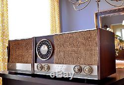 MINT RESTORED Antique Zenith Vintage MJ1035 Wood MCM Tube Radio Works Perfect