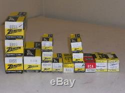 MIXED LOT of 15 Zenith Radionic Tubes 6HS5 6JS6C 6GH8A 6EJ7 6AK5 6DT6A 6JG5 6GJ7