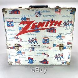 Medium, 1976 Bicentennial Print, Zenith, Vintage Radio TV Vacuum Tube Caddy