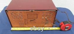 Mid century zenith AM-FM tube radio bakelite vintage radio A-723 table top