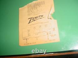 NEAR MINT ANTIQUE VINTAGE BAKELITE 1950's ZENITH AM FM TUBE RADIO WORKS