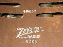 Nice Clean Working 1948 Zenith Model 6D815Y Tabletop AM Tube Radio