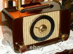 Nice Vintage 1940's Zenith 6g05 Tube Bakelite Am Radio Serviced Works Great