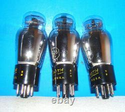No 6J5G audio Zenith radio amplifier vacuum tubes 3 valves tested ST shape 6J5GT