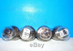 No 6J5G type Zenith radio amplifier ST shape vacuum tubes 4 valves tested 6J5GT