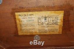Old Antique Wood MINERVA W117 Tube Radio Restored & Works Great
