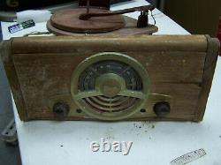 PARTS Vintage 1940s Zenith Cobra D130857 6EO2 Turntable Tube Radio cobramatic