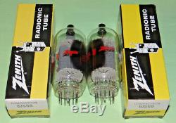 Pair NOS 6JS6B6JS6×2 Zenith/GE RF Lionear Power Amplifier Sweep Tubes EXC Test