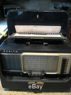 R600 Zenith Transoceanic tube radio working great on all bands