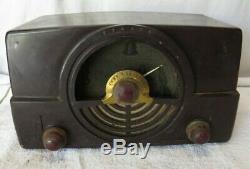RARE ZENITH RADIO 7H820UZ tube Vintage BAKELITE 1940's TESTED