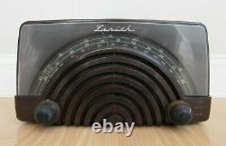 RARE ZENITH tube radio model 8H023 vintage bc fm uhf marbled bakelite 1946/47