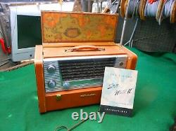 RCA VICTOR STRATO-WORLD II 7-BX-10 VTG. COLLECTABLE TESTED WORKS! Manual