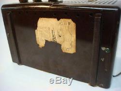 RESTORED 1954 Zenith AM-FM Tube Radio Model L721 mid century modern SEE VIDEO