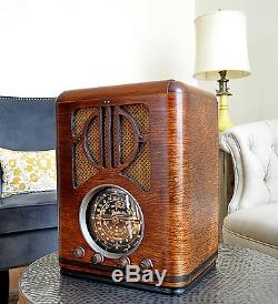 RESTORED Antique Vintage ZENITH 6S229 TOMBSTONE Wood Tube Radio Works Perfect
