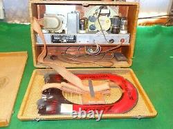 Rare TWEED VINTAGE ZENITH OLD NEAR MINT ANTIQUE WAVE MAGNET RADIO WORKS