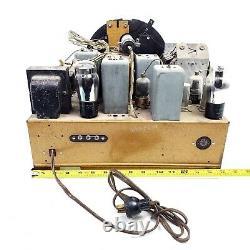 Rare VTG Zenith Tube Radio Zephyr Robot Shutter Dial Chassis Face Ring 9-S-367