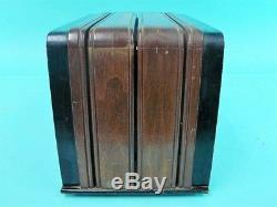 Rare vintage wooden zenith model s black gold dial art deco z