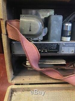 Rare Zenith Vintage Tube Radio -Working W Antenna Model 6-G-501 M Rare