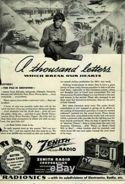 Restored Zenith 7G605 Bomber Trans-Oceanic Radio (1942)