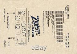 Restored perfect antique Zenith racetrack bakelite H-511 tube radio
