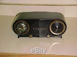 Scarce BLACK BAKELITE 1952 ZENITH K-515 OWL EYES PERFECT CASE
