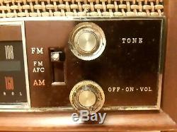 TESTED/WORKING Vintage Zenith Model K731 AM/FM Long Distance Tube Table Radio