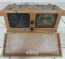 Tube Radio Zenith Wavemagnet 6-g-601 M Triple Hi Ficiency Clipper Parts Only