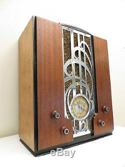 VINTAGE 1930s OLD ZENITH ART NOUVEAU CHROME DEPRESSION ERA ANTIQUE DECO RADIO