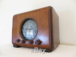VINTAGE 1930s OLD ZENITH CLASSIC CUBE ART DECO DEPRESSION ERA ANTIQUE RADIO