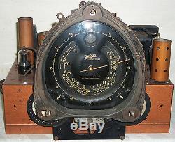 VINTAGE 1937 ZENITH #9-S-262 SHUTTER DIAL RADIO CHASSIS & ESCUTCHEON