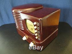 VINTAGE 1939 OLD ZENITH ART DECO DEPRESSION ERA ANTIQUE BAKELITE TUBE RADIO