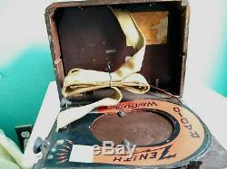 VINTAGE 1940-41 ZENITH 5G-403 AM PORTABLE TUBE RADIO Restored