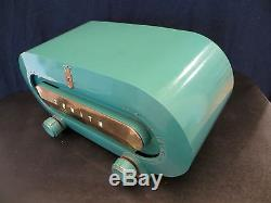 VINTAGE 1951 BEAUTIFUL OLD ZENITH RACETRACK MID CENTURY ANTIQUE BAKELITE RADIO