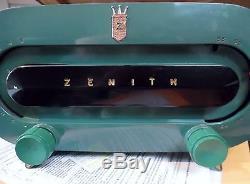 VINTAGE 1951 OLD ZENITH H511F RACETRACK MID CENTURY ANTIQUE TUBE RADIO
