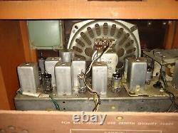 VINTAGE 1959 ZENITH C835R AM/FM TUBE RADIO Restored