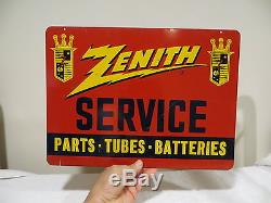 VINTAGE OLD ZENITH RADIO ANTIQUE ADVERTISING SIGN & MAGNIFICENT GRAPHICS