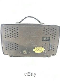 VINTAGE VTG 1950s EAMES ERA ZENITH AM-FM ANTIQUE OLD BAKELITE TUBE RADIO