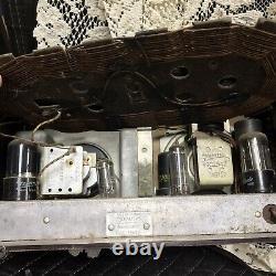 VINTAGE Zenith AM Radio Consol-Tone Brown Bakelite Vac Tubes Rare Works