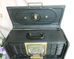 VINTAGE Zenith G500 / 5G40 TRANS-OCEANIC Shortwave TUBE Portable RADIO works
