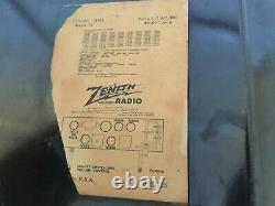 VINTAGE Zenith Racetrack AM Radio Consol-Tone Brown Bakelite Vac Tubes RareNice