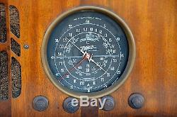 VTG (1937) 6-S-223 Zenith Black Dial Tube Radio BEAUTIFUL Cabinet