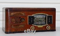 VTG (1941) 6-G-638 Zenith Black Dial Shortwave Tube Radio WORKS NICELY