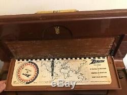 VTG 1950s Zenith Wave Magnet Super Deluxe Transoceanic Shortwave Tube Ham Radio