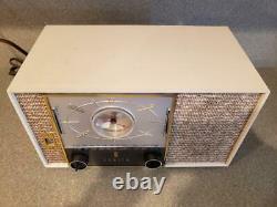 VTG 50s 1950s ZENITH CLOCK RADIO PROTOTYPE S 49314 WORKING MID CENTURY MCM RARE