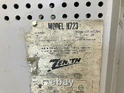 VTG. MCM 1950's Zenith AM/FM Tube Radio Model H723 Mid-Century Honeycomb WORKS