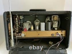 VTG Zenith Trans-Oceanic Multi-Band Tube Radio H500 WithManuals -WORKING
