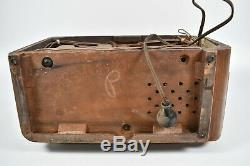 Vintage 1930's Sears Silvertone Model 6120 Tube Radio AM Shortwave Art Deco