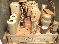 Vintage 1936 Zenith Shortwave Radio Model 5S-29 Antique 5 Tube 2 Band Wood