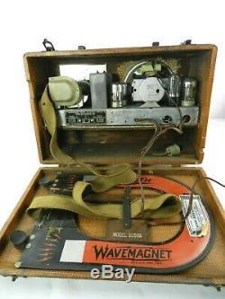 Vintage 1940 ZENITH Wave Magnet Portable Radio Model 5G500 Long Distance WORKS